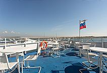 Теплоход Александр Великий, на верхней палубе