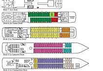 Мега-яхта LE SOLEAL, план палуб