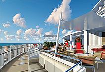 Costa Venezia на верхней палубе