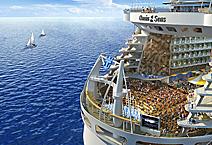 Морской лайнер Oasis of the Seas, на корме