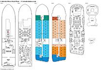 Мега-яхта Celebrity Flora, план палуб
