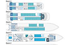 план палуб  на яхте Le Laperouse