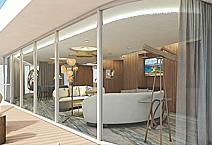 Мега-яхта Celebrity Flora, каюта Пентхауз