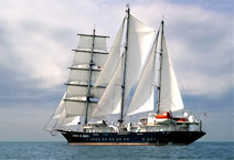 парусное судно Running on Waves баркентина