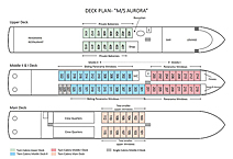 AURORA премиум, план палуб