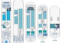 Мега-яхта LE BELLOT, план палуб