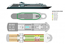 Экспедиционное судно World Explorer, план палуб