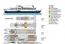 Экспедиционное судно   Ocean Endeavour,  план палуб