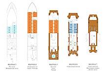 экспедиционное судно Silver Discoverer, план палуб