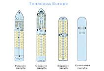Речной теплоход Europe, круизная компания Croisi Europe, план палуб