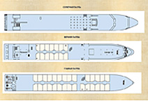 Теплоход Lafayette, план палуб