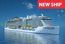 Лайнер Costa Smeralda, круизная компания Costa Cruises
