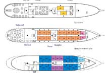 Яхта Sea Cloud II, план палуб